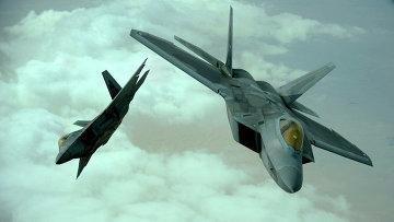 Истребитель ВВС США F-22 Raptor. Архивное фото