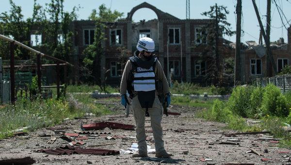 Наблюдатель миссии ОБСЕ под Донецком. Архивное фото