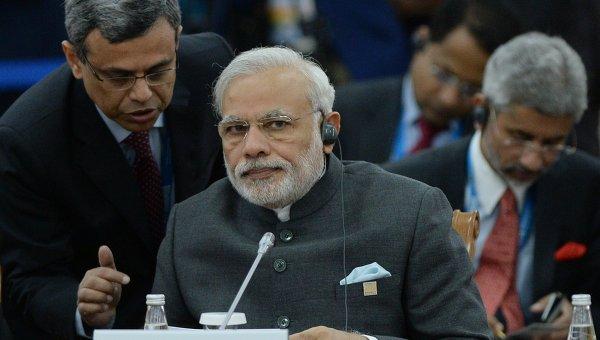 Заседание Совета глав государств-членов ШОС в расширенном составе. Премьер-министр Индии. Архивное фото