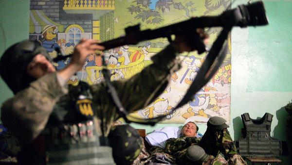 Cолдаты батальона Донбасс. Архивное фото