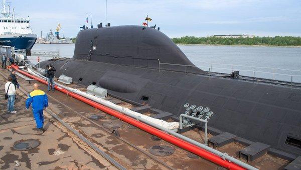 Первая многоцелевая атомная подводная лодка (АПЛ) проекта Ясень К-560 Северодвинск. Архивное фото