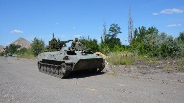 Отвод техники в Донбассе 19.07.2015