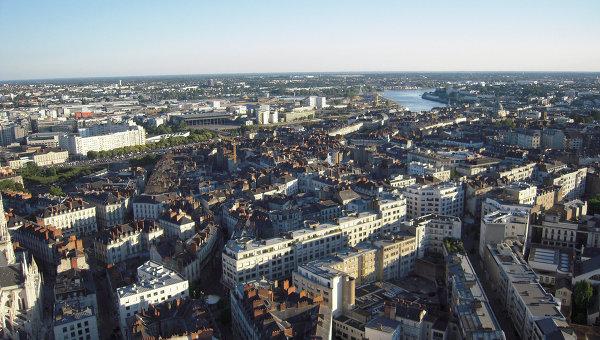 Город Нант, Франция. Архивное фото