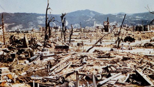 Последствия атомной бомбардировки Хиросимы. 1945 год. Архивное фото