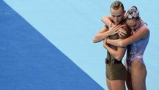 Дарина Валитова и Александр Мальцев выступают на чемпионате мира по водным видам спорта в Казани