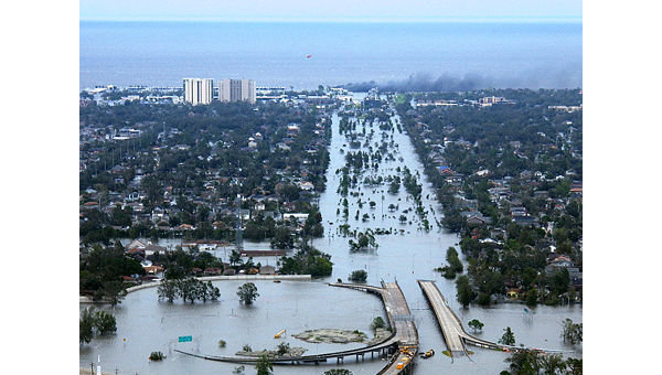 Затопленный Новый Орлеан. 2005