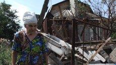 Последствия обстрела села Саханка в Донецкой области. Архивное фото