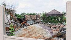 Последствия обстрела Октябрьского района Донецка. Архивное фото