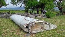 Обломки самолета, найденные в Сен-Андре, Реюньон. Стоп-кадр из видео. Архив