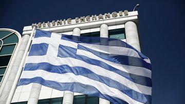 Флаг Греции. Архивное фото