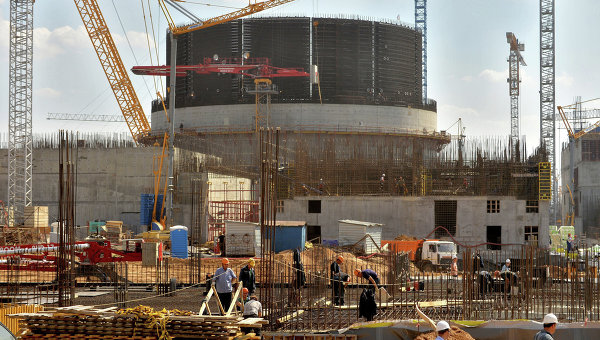 Строительство Белорусской АЭС в Островце. Архивное фото
