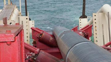 Работы компании Газпром по строительству газопровода. Архивное фото