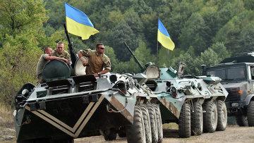 Учения украинских военнослужащих. 11 августа 2015. Архивное фото