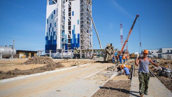 Строительство космодрома Восточный в Амурской области.Архивное фото