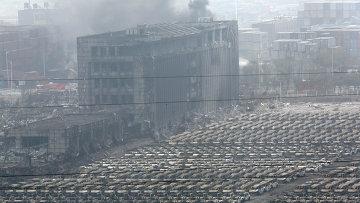 Последствия взрывов в Тяньцзине, Китай, 14 августа 2015