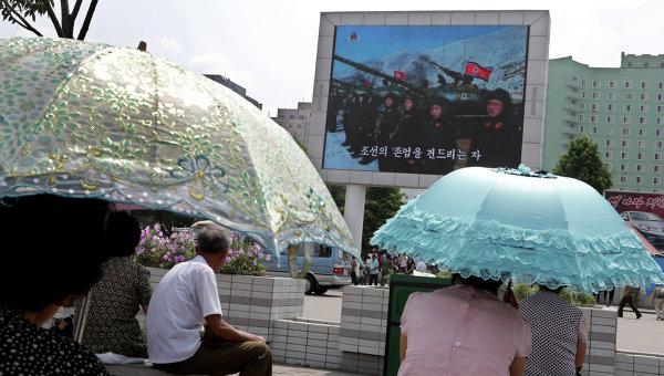 Жители Пхеньяна, архивное фото