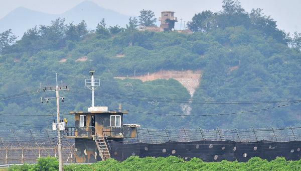 Граница между Северной и Южной Кореей. Архивное фото