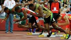 Усэйн Болт в полуфинале на дистанции 100 метров