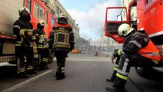 Пожарные в Бельгии. Архивное фото