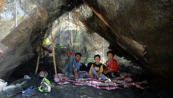 Лагерь беженцев в Греции. Архивное фото