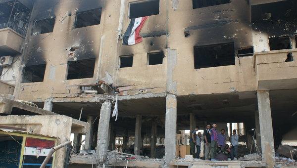 Город Эль-Хасака (Хасеке) на востоке Сирии, ставший местом интенсивных боев между ИГИЛ и сирийской армией. Архивное фото