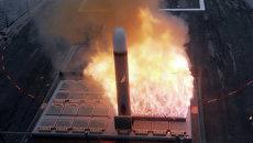 Запуск ракеты Томагавк из установки Mark 41. Архивное фото