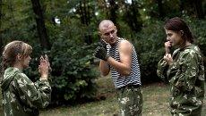 Военно-патриотический клуб для молодежи Доброволец в Луганске