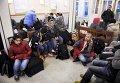 Беженцы на железнодорожной станции Кеми, Финляндия