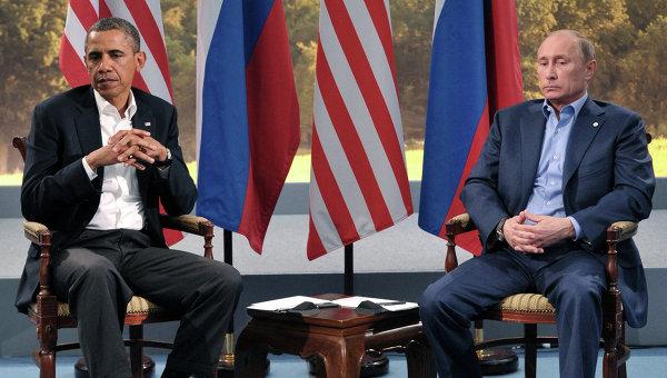 В.Путин встретился с Б.Обамой в рамках саммита G8. Архивное фото