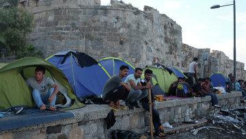 Лагерь беженцев на острове Кос. Архивное фото