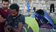 Лагерь беженцев на острове Кос в Греции. Архив