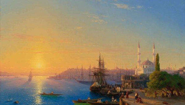 Одна из оживших картин Айвазовского. Архивное фото