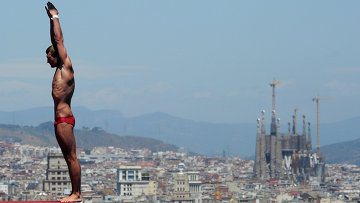Александр Бондарь на Чемпионате мира по водным видам спорта в Барселоне. Архивное фото