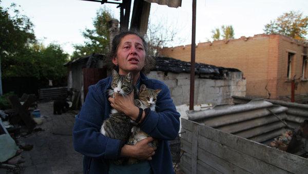Виктория, жительница поселка Веселое Донецкой области