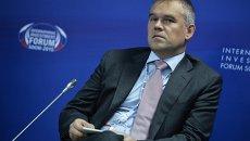 Заместитель председателя Банка России Василий Поздышев во время панельной дискуссии Повышение устойчивости и эффективности банковской системы. Нужна ли консолидация?