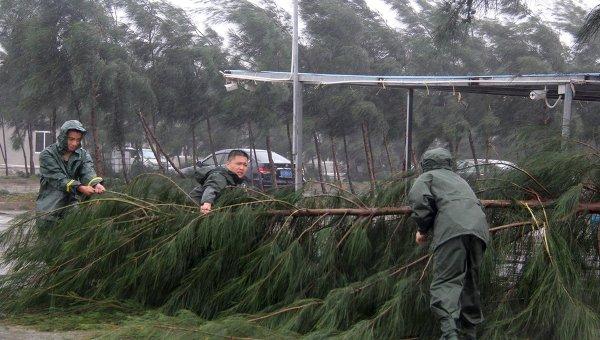 Последствия тайфуна Мучжигэ в Китае, 4 октября 2015