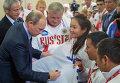 Президент России Владимир Путин на встрече в Сочи с победителями Всемирных игр колясочников и ампутантов 2015 года