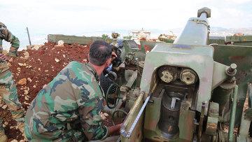 Передовая позиция сирийского ополчения в поселении Баруда на севере провинции Латакия в 20 километрах от границы с Турцией. Архивное фото