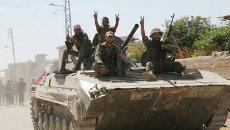 Освобожденный сирийской армией при поддержке российской авиации город Атшан