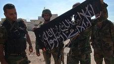 Освобождение Атшана: ликование сирийских солдат и сожжение флага боевиков