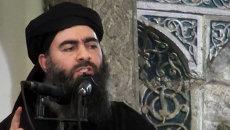 Лидер террористической группировки Исламское государство Абу Бакр аль-Багдади