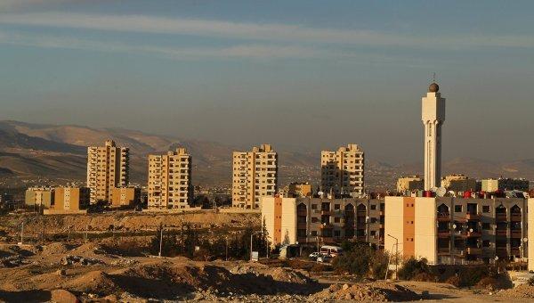 Вид на жилые дома в Сирии. Архивное фото