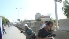 Мина взорвалась рядом с митингующими в поддержку РФ в Дамаске. Кадры ЧП