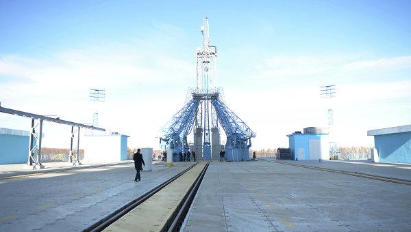 Стартовый стол на космодроме Восточный Амурской области. Архивное фото