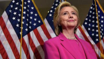 Кандидат в президенты от Демократической партии США Хиллари Клинтон