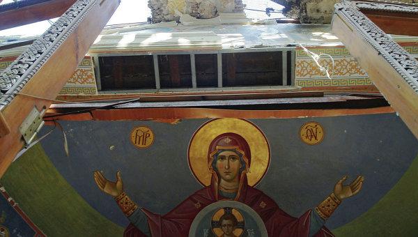 Здание храма в честь Иверской иконы Божией Матери женского Донецкого Иверского монастыря. Архивное фото