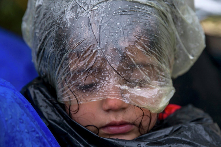 Мигранты на границе Сербии и Хорватии