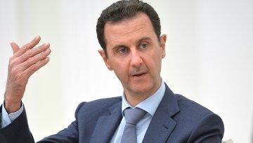 Il presidente siriano Bashar Assad.  foto d'archivio