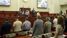 Депутаты во время пленарного заседания Киевского городского совета. Архивное фото