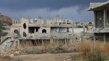 Город Мурек освобожденный сирийской армией после интенсивных артударов и уличных боев. Архивное фото